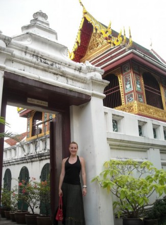 Denise Steller at The Grand Palace in Bangkok, Thailand.