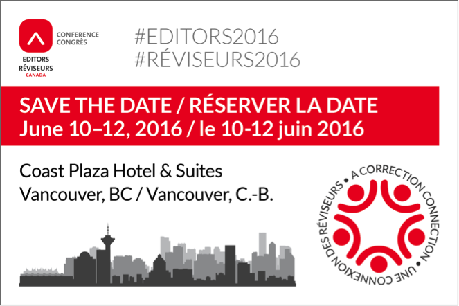 Where you'll find me at #Editors2016