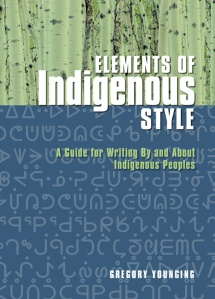 Elements of Indigenous Style by Gregory Younging book cover