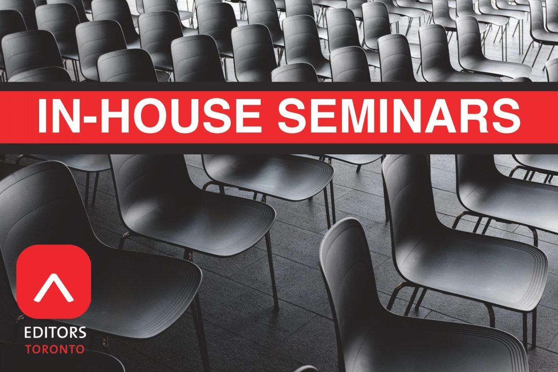Editors Toronto in-house seminars postcard cover